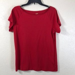 Anne Klein Tee Top Blouse Red Size XL